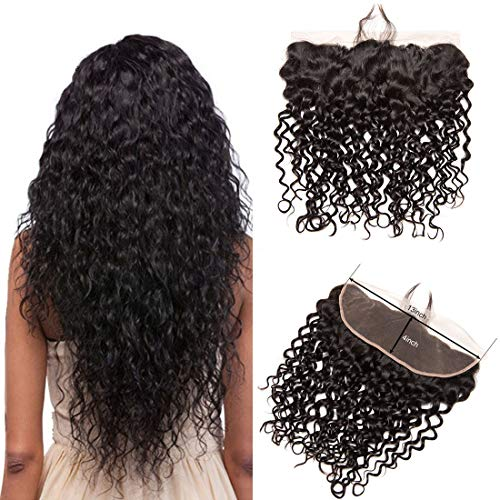 Water-Wave-Lace-Frontal-Only-13X4-Ear-To-Ear-Lace-Frontal-Closure-With-Baby-Hair-Bleached-Knots-Preplucked-Free-Part-130-Density-Customized-Short-Brazilian-Virgin-Remy-Human-Next-Day-Delivery-8-Inch