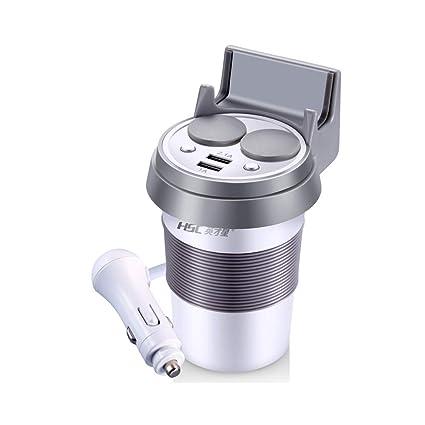 Car Cup Cargador, Doble USB Ports Cargador De Coche 12V/24V ...