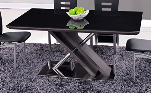 Global Furniture D654DT Dining Table, Stainless Steel