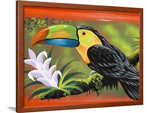 (ArtEdge The Crafts Town of Sarchi Famous for Its Decorative Painting and Ox Carts, Costa Rica Brown Wall Art Framed Print, 24x32, Unmatted)