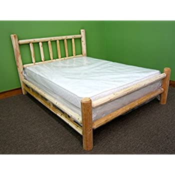 Midwest Log Furniture   Premium Log Bed   Queen