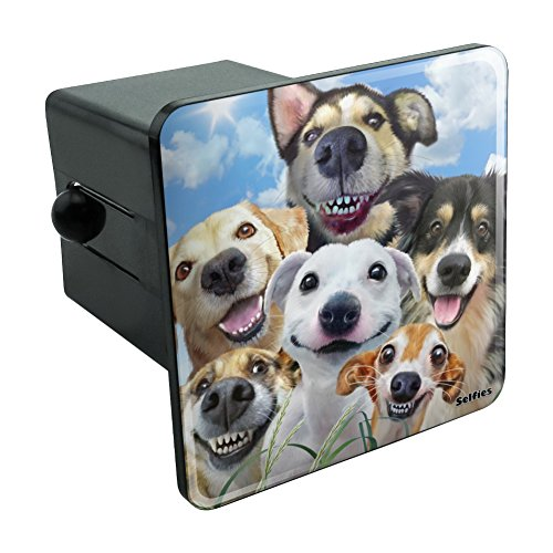 - Graphics and More Dogs Smile Selfie Retriever German Shepherd Tow Trailer Hitch Cover Plug Insert 2