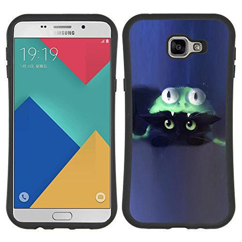 iFace Series Soft Tpu Skin Bumper Case Cover For Samsung Galaxy A9 (2016 Version)/ Galaxy A9 (2016) Duos , ( Cat Costume Cute Blue Kitten (Costume Duos)