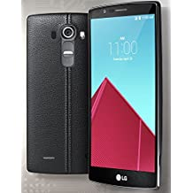 LG G4 US991, 5.5-inch LCD, 32GB, 3GB RAM, 1.8GHz Hexa-Core CPU, Unlocked Smartphone, Android 6.0, Black Leather Back