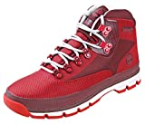 Timberland EURO Hiker Jacquard Medium Red Jacquard Mens Lace-Up Boots Size 9M