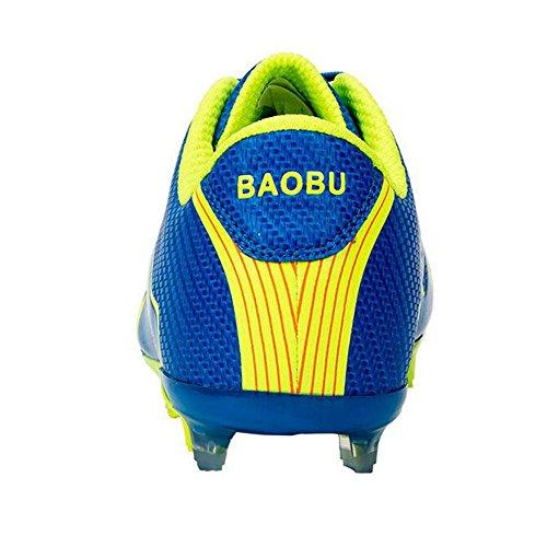 Mr. LQ - Zapatillas de combate de fútbol para adultos y zapatos de entrenamiento Blue