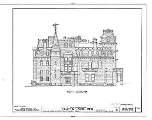 Historic Pictoric Blueprint Diagram HABS RI,3-NEWP,59- (Sheet 9 of 12) - Chateau-sur-Mer, Bellevue Avenue, Newport, Newport County, RI 44in x ()