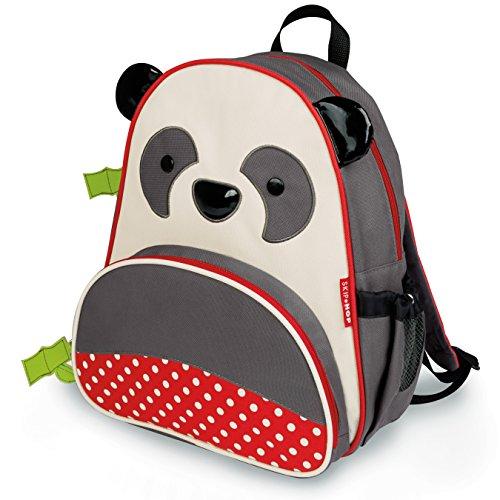 """Skip Hop Toddler Backpack, 12"""" Panda School Bag, Multi"""