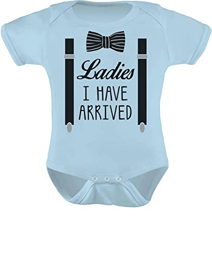 78e179a4e TeeStars - Ladies I Have Arrived Bowtie Funny Baby Boy Bodysuit Baby Onesie  6M Aqua