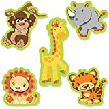 Funfari - Fun Safari Jungle - DIY Shaped Baby Shower or Birthday Party Cut-Outs - 24 Count