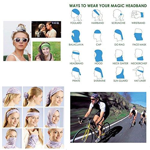 16-in-1 4/9 Pcs Multifunctional Style Yoga Sports Fashion Travel Colors Headband Seamless Neck Uv Buff Solid Moisture Wicking Bandana Turban Scarf (style 1)
