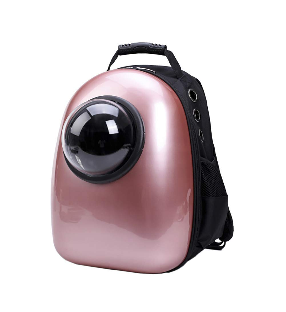 pinkred KOSHSH Portable Bubble Pet Travel Backpack Transparent Breathable Waterproof Space Capsule transport Carrier for small Cat Dog Puppy,pinkred