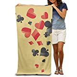 Beach Towel Personalized Custom Ultra Soft Super Water Absorbent Multi-Purpose Oversized Poker Print 31.5''x51.2''