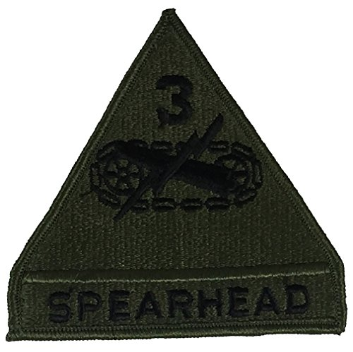 3RD ARMORED DIVISION SPEARHEAD UNIT PATCH - OD Green/Black - Veteran Owned Business