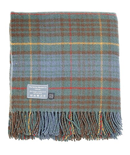 The Tartan Blanket Co. New Wool Blanket Stewart Hunting Antique Tartan (59