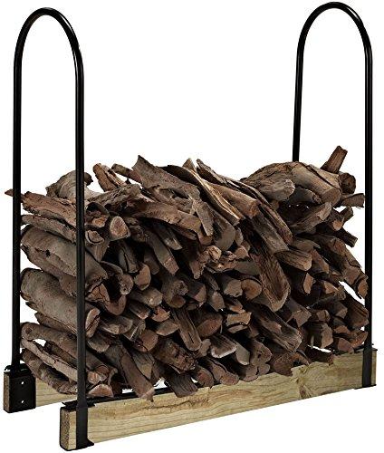 Crosley Furniture Hartman Adjustable Firewood Storage Rack - Black