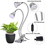 Amats Dual Head LED Plant Grow Light,10W 360° Flexible Indoor Grow Light Plant Grow Lamp with Controllable Luminious Level for Indoor Plants, Hydroponic Gardening, Greenhouse, Office Review