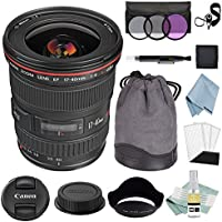 Canon EF 17-40mm f/4L USM Lens + Canon EF 17-40mm Lens Advanced Accessory Kit - Canon Lens Bundle Includes EVERYTHING You Need to Get Started