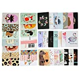 #1: Birthday Cards- Birthday Wishes Cards [36 Designs] - 36 PCS Blank Cards - White Envelopes Included, D