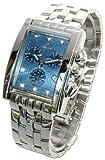 Oskar Emil Gents Rodez Steel 7 Diamond Chronograph Watch with Blue Dial