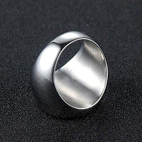Dixinla Rings Steel , European and American Fashion Simple Personality Retro AG Logo Mens Stainless Steel Ring Jewelry Gift for Family or Friends by Dixinla (Image #5)