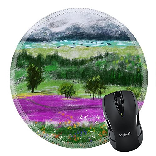 MSD Mousepad Round Mouse Pad/Mat 34767542 hand draw paint wild field cg graphic
