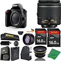 Great Value Bundle for D3300 DSLR – 18-55mm AF-P + 2PCS 16GB Memory + Wide Angle + Telephoto Lens + Backpack