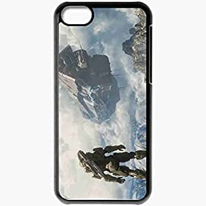 Personalized iPhone 5C Cell phone Case/Cover Skin Halo 4 Spartan Master Chief Space Ship Pillar Of Autumn Black