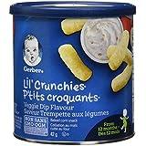 GERBER Lil' Crunchies, Veggie Dip, Toddler Snacks, 6 x 42 g (Pack of 6)