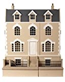 Melody Jane Dolls Houses Georgian House & Basement 1:12 Scale Unpainted Flat Pack Mdf Wood Kit