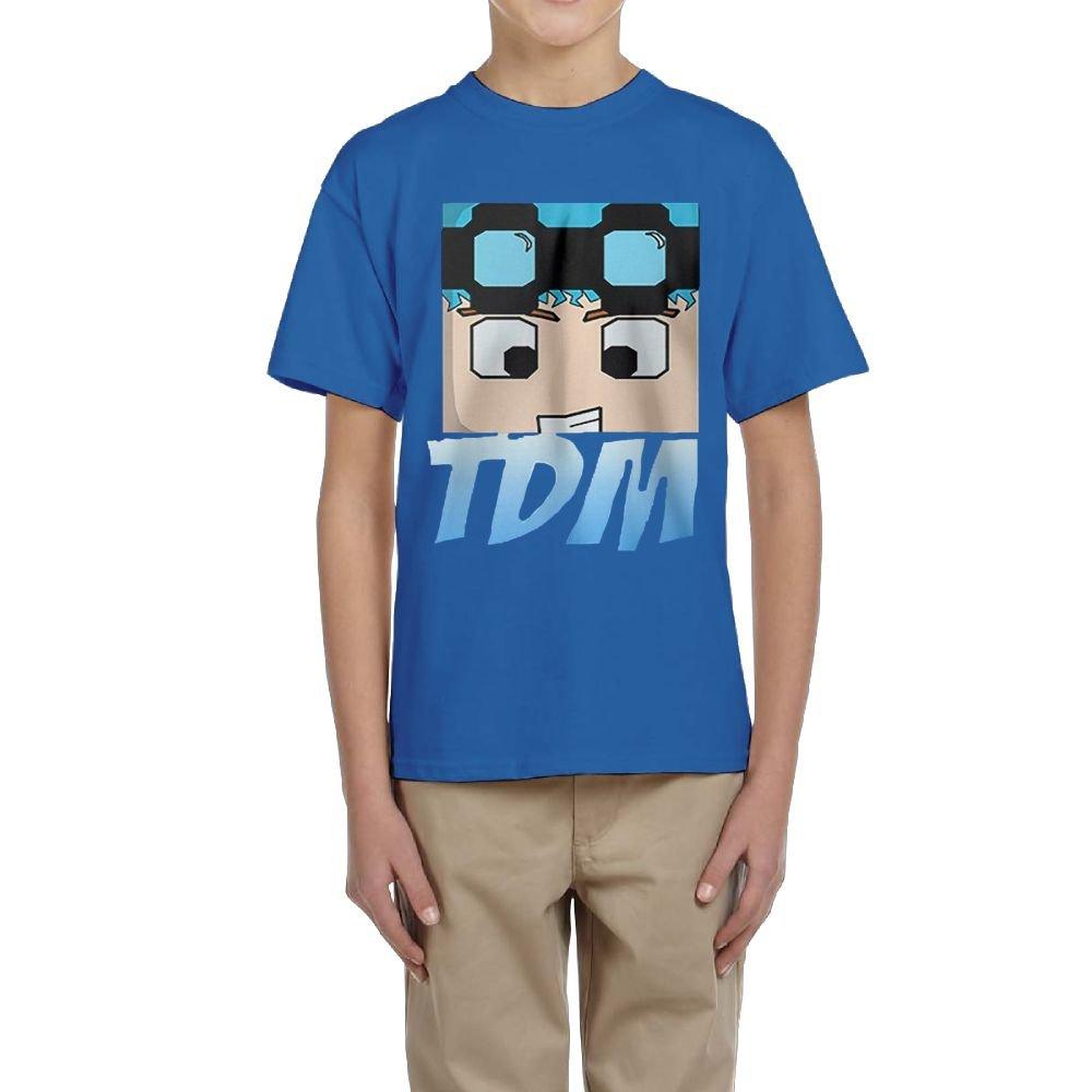 Connor Dan TDM Logo Youth T Shirt for Boys and Girls RoyalBlue Evelyn C