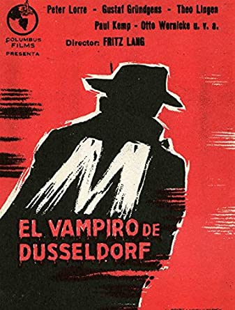 "M/"" El Vampiro de Düsseldorf POSTER"