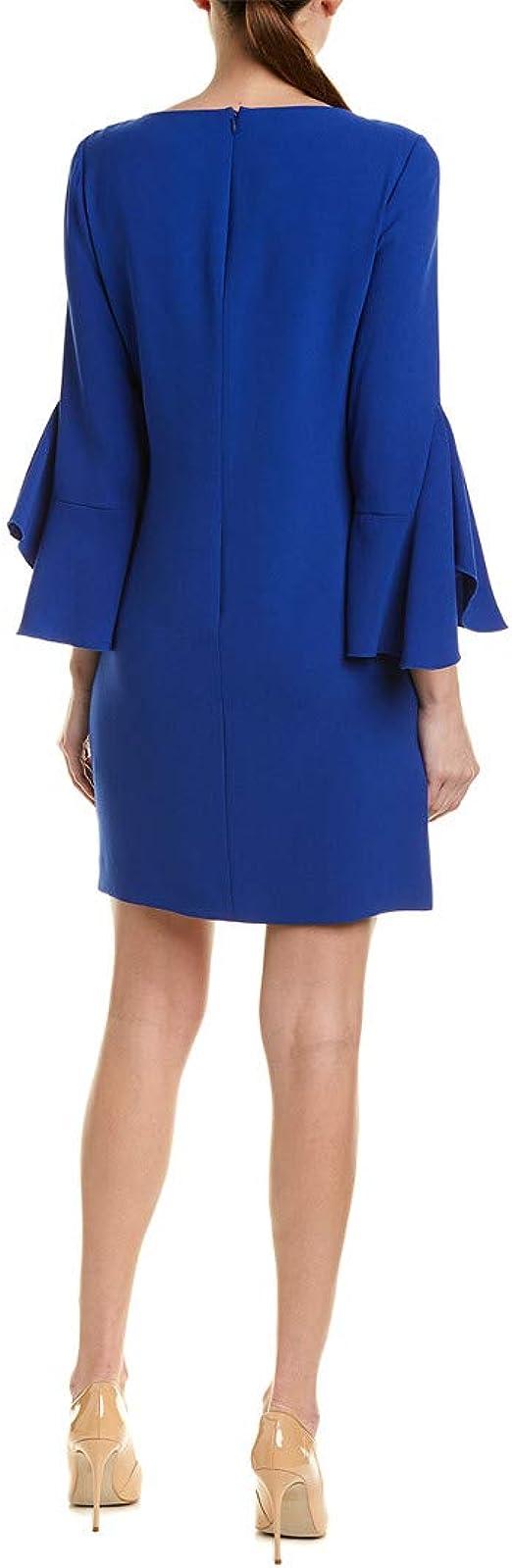 Elie Tahari Womens Dori Blue Bell Sleeves Mini Sheath Cocktail Dress 8 BHFO 7861