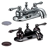3 4 brass spigot - FREUER Per Sempre Collection: Centerset Bathroom Sink Faucet, Polished Chrome