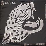 Jacksonville Jaguars 6'' Medium Silver Metallic Vinyl Auto Decal NFL Football