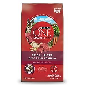 Purina ONE Natural Dry Dog Food; SmartBlend Small Bites Beef & Rice Formula - 8 lb. Bag 106