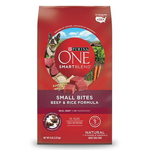 Bites Dry Food - Purina ONE Natural Dry Dog Food; SmartBlend Small Bites Beef & Rice Formula - 8 lb. Bag