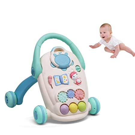 HBIAO Andadores para Bebes Caminador de pie para bebé 2 en 1 ...