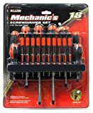 Allied Tools 45090 Mechanic's Screwdriver Set with Storage Rack, 18-Piece