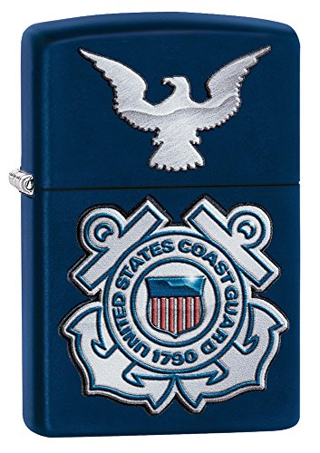 Zippo United States Coast Guard Logo Pocket Lighter, Navy Matte ()