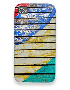 Wood with Worn Paint Swooshes Case for your iPhone 4/4s