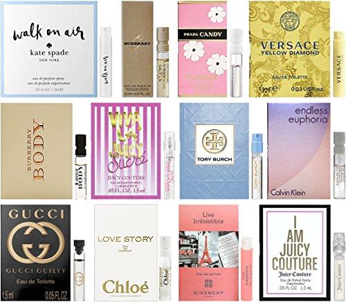 Designer Fragrance Samples for Women - Sampler Lot x 12 Perfume (Designer Sampler)