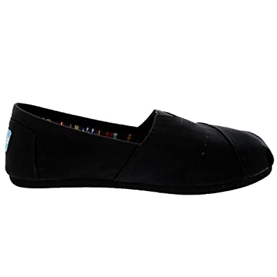 TOMS Black on Black Canvas Women's Classic 10002472 (Size: 6.5) | Loafers & Slip-Ons