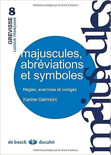 Livre gratuits en ligne Majuscules, Abreviations et Symboles epub, pdf