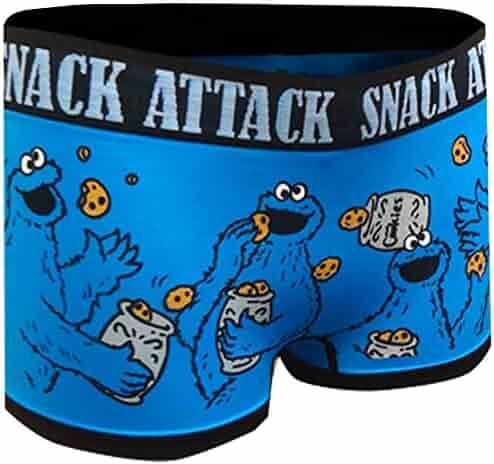 f1557ca573b4 Sesame Street Women's Cookie Monster Snack Attack Seamless Boy Short.  Contact