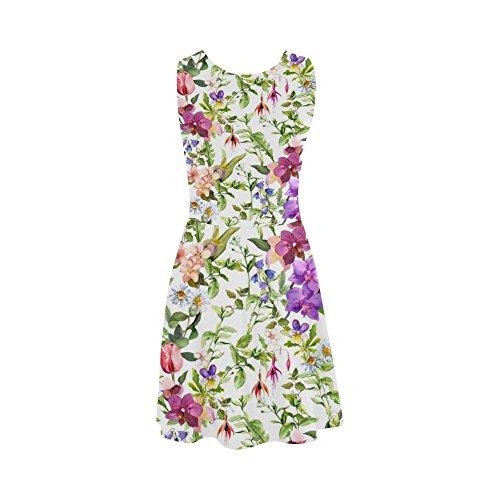 Women Story Sundress Summer Cat Dress Funny Dress D Design4 Women Sleeveless faqxwR