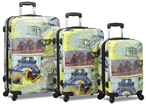 Rolite City Stamping Lightweigt 3-pcs Expandable Hardshell Spinner Luggage Set (Mosaic) Review