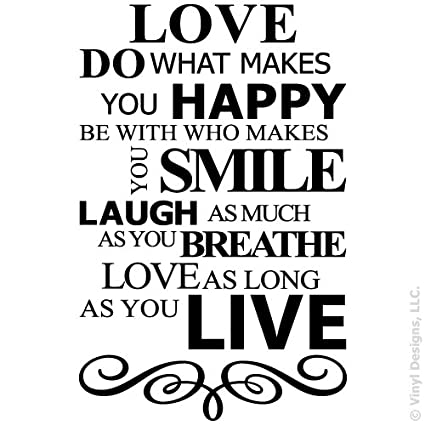 Amazon Live Laugh Love Smile And Happy Quote Vinyl Wall Decal Extraordinary Smile Laugh Love Quotes