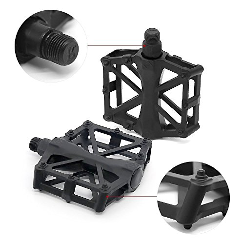 Review Bike Pedals, Universal Aluminum