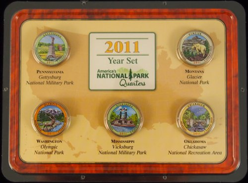 2011 National Park Quarters Colorized Year Set